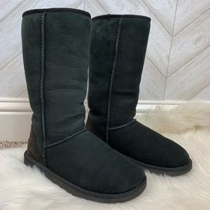 UGG S/N 5815 Black Tall Boots US 6
